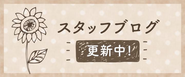 スタッフブログ 更新中!
